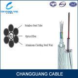 Alta qualidade do cabo de fibra óptica Opgw da potência aérea com os 2 144 ao núcleo AA e como fios