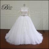 Vestido de casamento do Applique do laço da alta qualidade Ak044 mais o vestido de casamento nupcial 2016 do tamanho