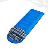 青いですかバラ色の赤い現代デザイン空の綿の寝袋