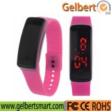 Armband-Armbanduhr Gelbert Frauen-Mann-Silikon-Band-Digital-LED