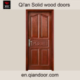 Eichen-festes Holz-Sicherheits-Tür
