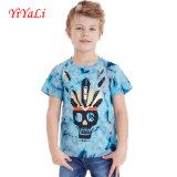 T-shirt 2016 da luva do Short do algodão da impressão de Suumer para Little Boy