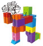 игрушка пластмассы игрушки робота трансформатора кубика 3D DIY воспитательная творческая романная