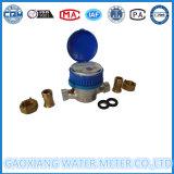Type simple mètre de gicleur d'eau en laiton de corps
