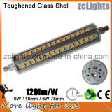 高品質High Lumen SMD2835 118mm LED R7s