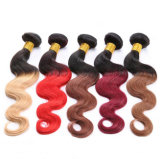 Principale 2 Tone/3tone Virgin brasiliano Hair Ombre in Human Hair Weaves