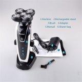 Nuevos 5 recargables eléctricos de las pistas Kemei5884 para la maquinilla de afeitar lavable de la venta al por mayor del cuidado de la cara de los hombres