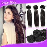 工場価格の人間の膚触りがよい直毛の織り方のインドの実質の毛、加工されていない人間の毛髪の拡張