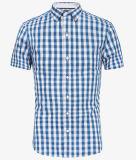 Il bianco blu poco costoso controlla la camicia per vedere se ci sono uomini