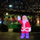 Het LEIDENE Koord van Kerstmis steekt Openlucht Waterdicht aan