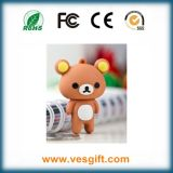 Mecanismo impulsor suave del USB del animal del PVC del regalo del oso caliente promocional del peluche