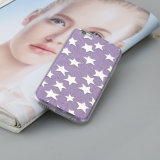 Защитный чехол пурпурового телефона звезды Shining мягкого TPU полный для iPhone 6s