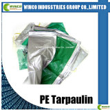 Bâche de protection imperméable à l'eau stratifiée de PE de tissu de couverture imperméable à l'eau de camion de bâche de protection de PE