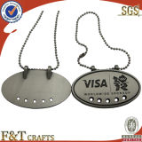 Embossed inciso Custom Metal Dog Tag con Custom Shape (FTDT2023A)