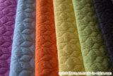 소파를 위한 격자 무늬 패턴 Seersucker 벨루어 직물