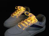 Причудливый шнурок ботинка шнурков ботинка проблескивая СИД СИД