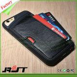 Einbauschlitz TPU PU Leather Phone Fall für iPhone 6s