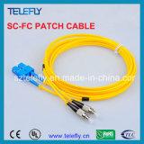 Оптический кабель волокна, шнур заплаты волокна
