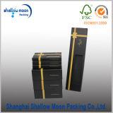 Caja de embalaje negra de encargo de la pajarita (QYZ386)
