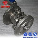 2PC нержавеющая сталь Pn16/Pn40 DIN служила фланцем шариковый клапан
