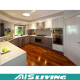 Mobília dobro dos gabinetes de cozinha de Malemine Playwood da cor da U-Forma (AIS-K754)