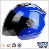 Capacete aberto fantástico da motocicleta da cara do azul real (OP201)