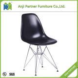 가정 가구 검정 PP 시트와 강철 발 식당 의자 (히스속의 식물)