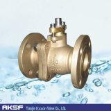ANSI/JIS/DIN Handvat van de Kogelklep van de Flens van het Brons van het Aluminium werkt het Drijvende