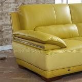 Couro genuíno L sofá da sala de visitas da forma (898#)