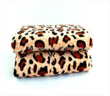 Microfiber Coral Fleece Blanket mit Animal Skin Print