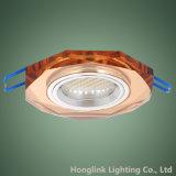 Accesorio ahuecado forma de cristal colorida de Downlight del techo del octágono de la decoración