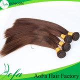 판매 처리되지 않은 브라운 최신 색깔 똑바른 브라질 Virgin 머리 연장