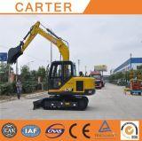 Excavador de múltiples funciones caliente de la retroexcavadora de la correa eslabonada de las ventas CT85-8b (8t) con las pistas de goma
