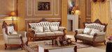Sofà europeo del cuoio mezzo di stile della mobilia del salone