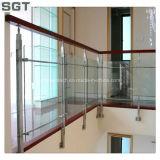 vidrio laminado Tempered claro de 4.38-38.38m m para la barandilla de la escalera
