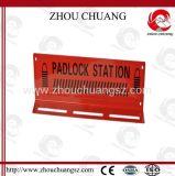 Stazione materiale d'acciaio della serratura del lucchetto durevole di colore rosso 15-Lock