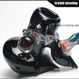 Воск ЛИМАНДЫ куря труб покрашенный в Stock стеклянной трубе руки табака