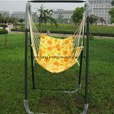 Oscillation pliable de jardin extérieur avec le parasol de tissu