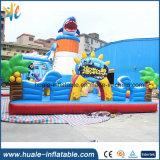 Château sautant de rebondissement gonflable marin de royaume de PVC pour le parc d'attractions