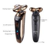 Maquinilla de afeitar flotante del cuidado 3D de la cara de los hombres recargables lavables de la máquina de afeitar eléctrica de las nuevas pistas del diseño 4 de Kemei 361