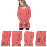 Bunte Frauen strickten Kaschmir-Strickjacke Ew16A-001sh