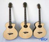 Feito-à-medida por atacado de Aiersi toda a guitarra acústica mestra contínua (SG03ARNS)