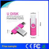 Nuevo mecanismo impulsor del flash del USB del eslabón giratorio OTG de Hotsale USB2.0 de la llegada