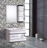 Weißes Wall Mounted PVC Bathroom Vanity mit Side Cabinet