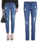 Soem-Mädchen zerriß Blue Jeans-Baumwollausdehnungs-Denim-Jeans-Hosen