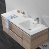 Modernes Badezimmer-festes Oberflächenschrank-Wäsche-Bassin