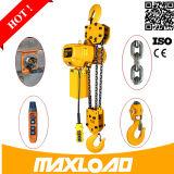 Maxload Merk Aangepaste 0.5~35ton Hijstoestel van de Keten van 1 Ton het Elektrische