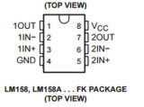 Circuito integrato Lm258dr dell'amplificatore operativo CI Texas Instruments