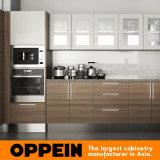 Modules de cuisine en bois de vente d'Oppein du Kenya de mélamine chaude de projet (OP15-M04)