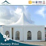Tente extérieure blanche élégante de chapiteau de pagoda de Gazebos de vente chaude